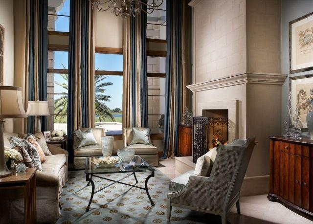 Ideen für Gardinen-Vorhänge Sonnenschutz-sichtschutz-fensterdeko - gardinen vorhänge wohnzimmer