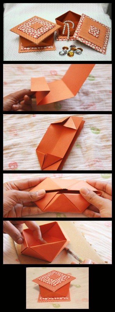 Decorative Origami Box Origami How To Fold The Mystery Pinterest