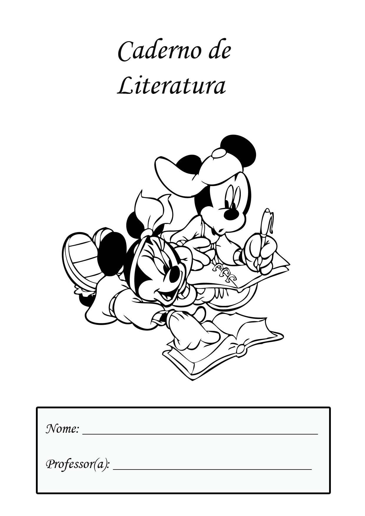 Capa Caderno Literatura Paginas Para Colorir Da Disney Paginas