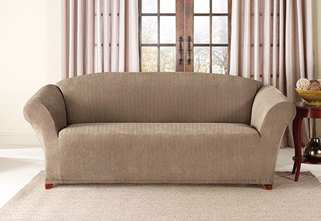 Sure Fit Slipcovers Stretch Pinstripe One Piece Sofa Slipcovers For Chairs Slipcovered Sofa Pinstripe Sofa