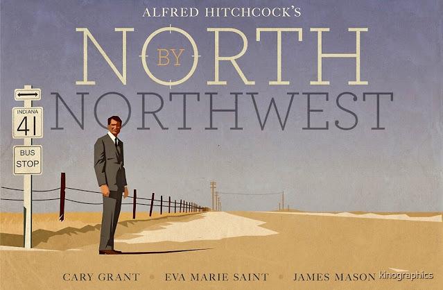 NORTH BY NORTHWEST. Poster alternativo: 40,6 x 30,5 cms. Diseño:  Kinographics. CON LA MUERTE EN LOS TALONE… en 2021 | Con la muerte en los  talones, Talones, Eva marie saint