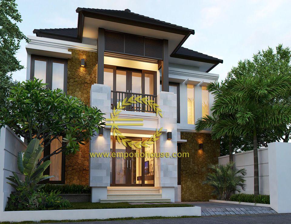 Desain Rumah 2 Lantai 4 kamar Lebar Tanah 10 meter dengan