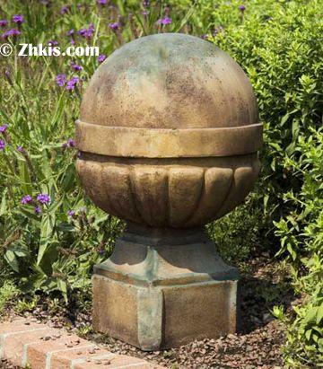 Banded Ball Finial. Outdoor StatuesOutdoor SculptureLawn OrnamentsGarden ...