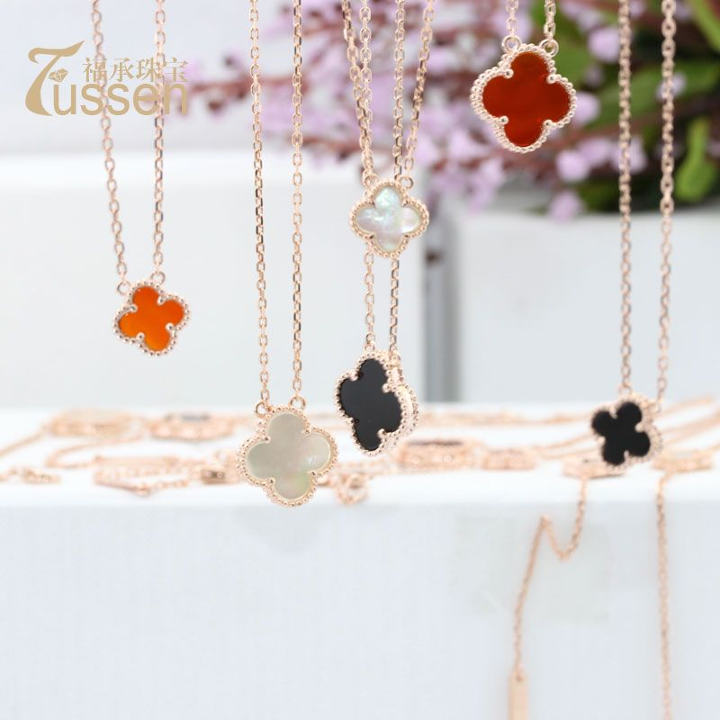 FUSSEM NEW VCA Fashion Jewellry 18K Gold or Rose Gold Plated Necklace made with Nature Carnelian Pendant Valentine's Day Gift $59.99 - 61.99
