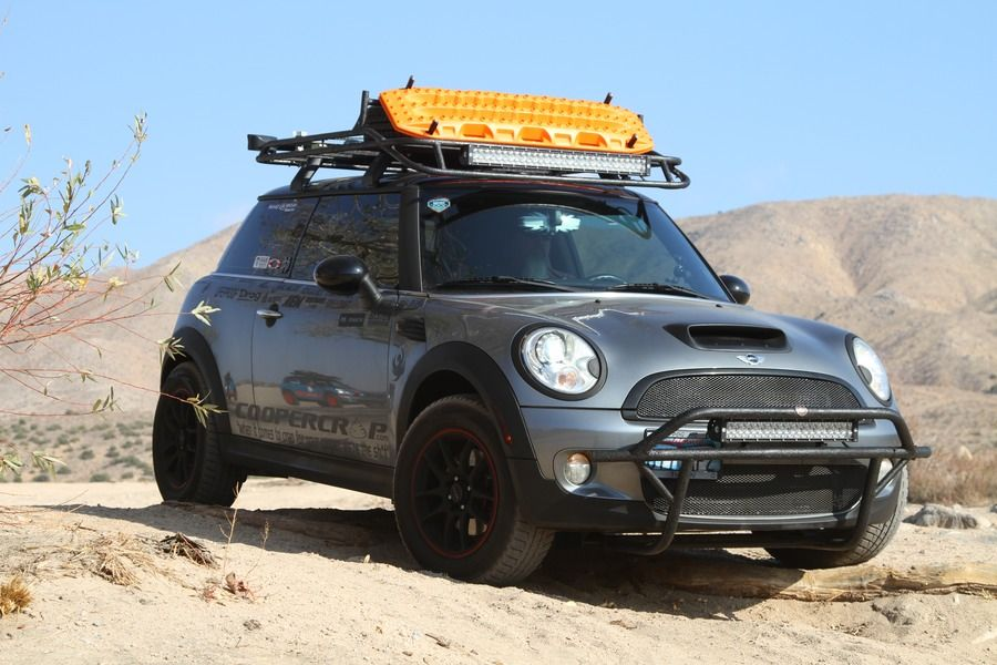 Lifted Mini Cooper And Roof Rack Ready To Baja