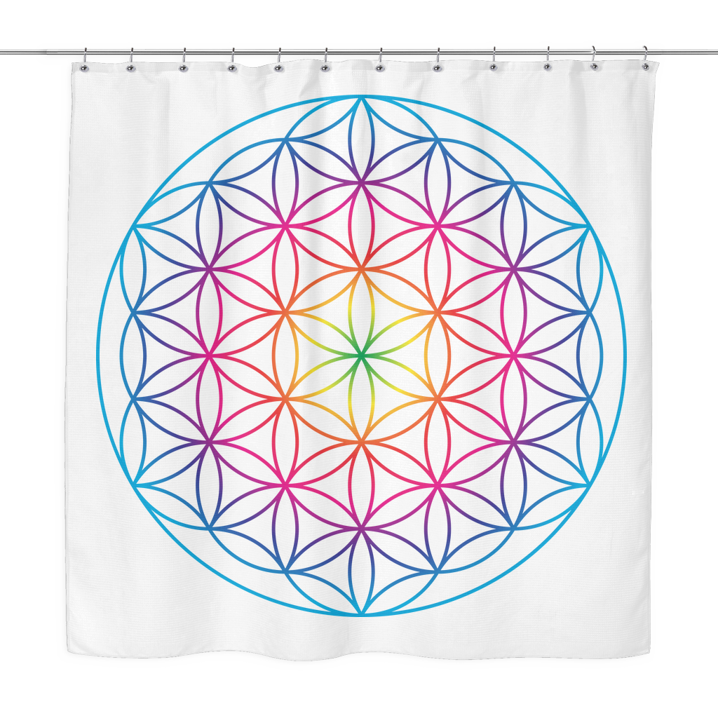 Flower Of Life Sacred Geometry Shower Curtain Curtains