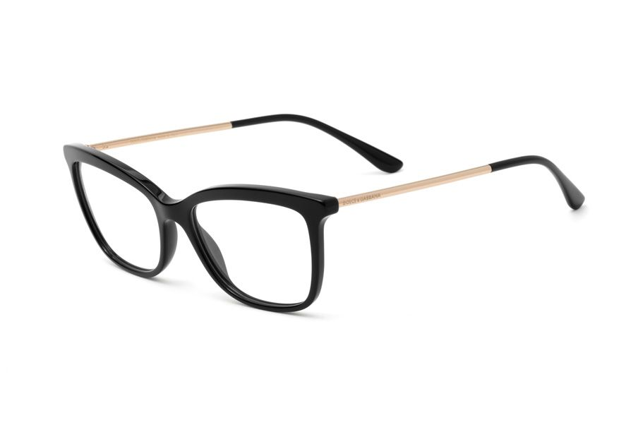 f7bef664acf Black butterfly acetate eyeglasses for women DG3286 embellished by shiny  pink gold metal temples and black acetate tips. Temples are personalized by  the ...