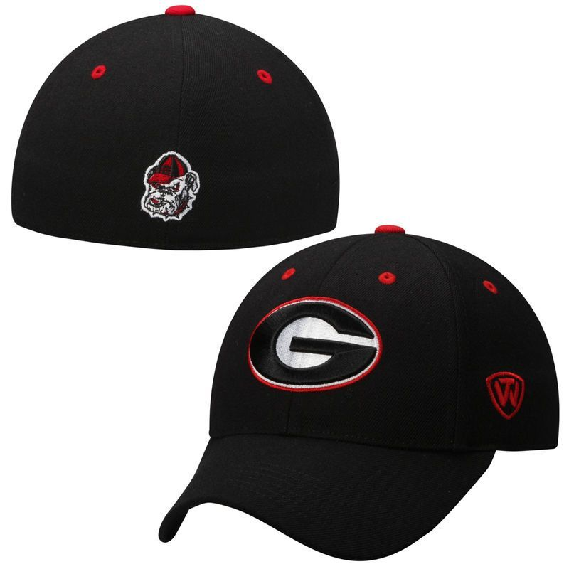 2ec65f79c70f1 Georgia Bulldogs Top of the World Dynasty Memory Fit Fitted Hat – Black