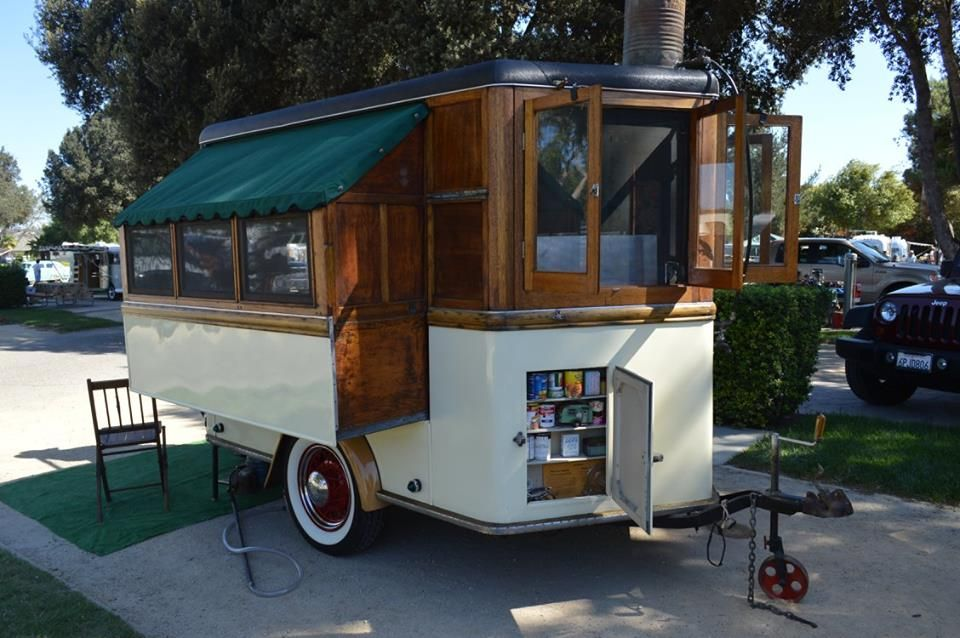 Teardrop bicycle camper bicycle campers pinterest campers - 1945 Homemade Popup From Vintage Camper Trailers Small