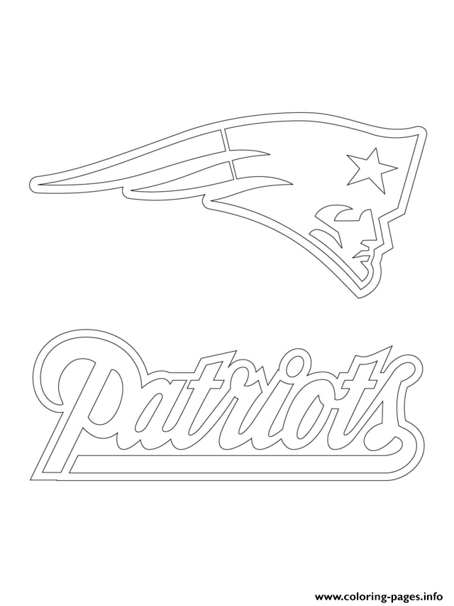Print new england patriots logo football sport coloring pages ...