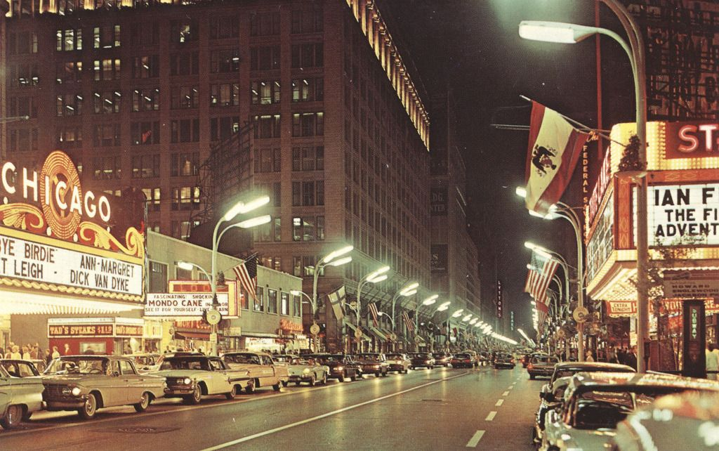 Chicago IL. Circa 1964. State street chicago, Chicago at