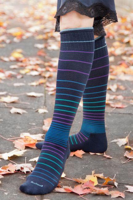 2a3696faea Circulator Compression Knee High   Leg Wear   High knees, Striped ...