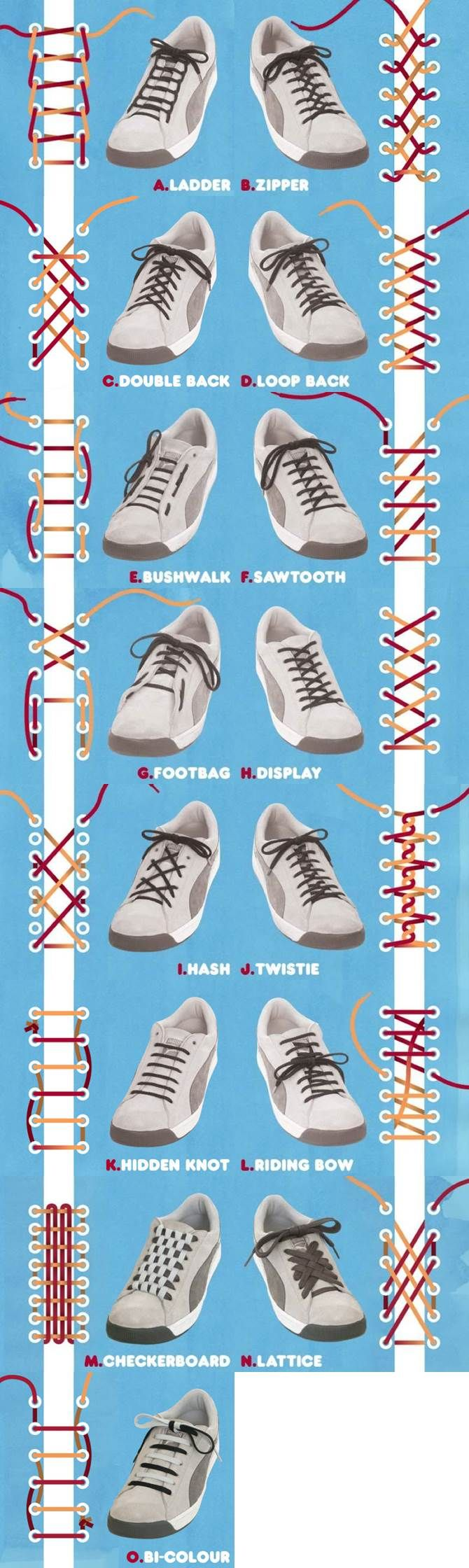Cool Ways to Lace Your Converse Shoes | Famous