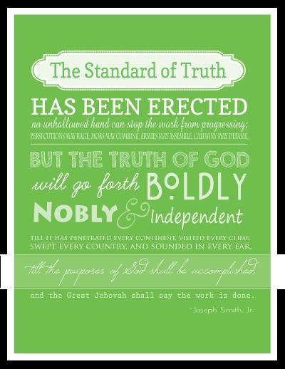 Someone In Mind: The Standard Of Truth / El Estandar De La Verdad ~ Free Printable