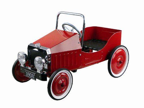 Goki 2041355 Porteur Voiture 1938 Rouge Pedal Cars Toy Car Car