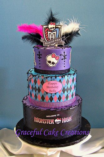 Astounding Monster High Birthday Cake Monster High Birthday Cake Monster Funny Birthday Cards Online Alyptdamsfinfo