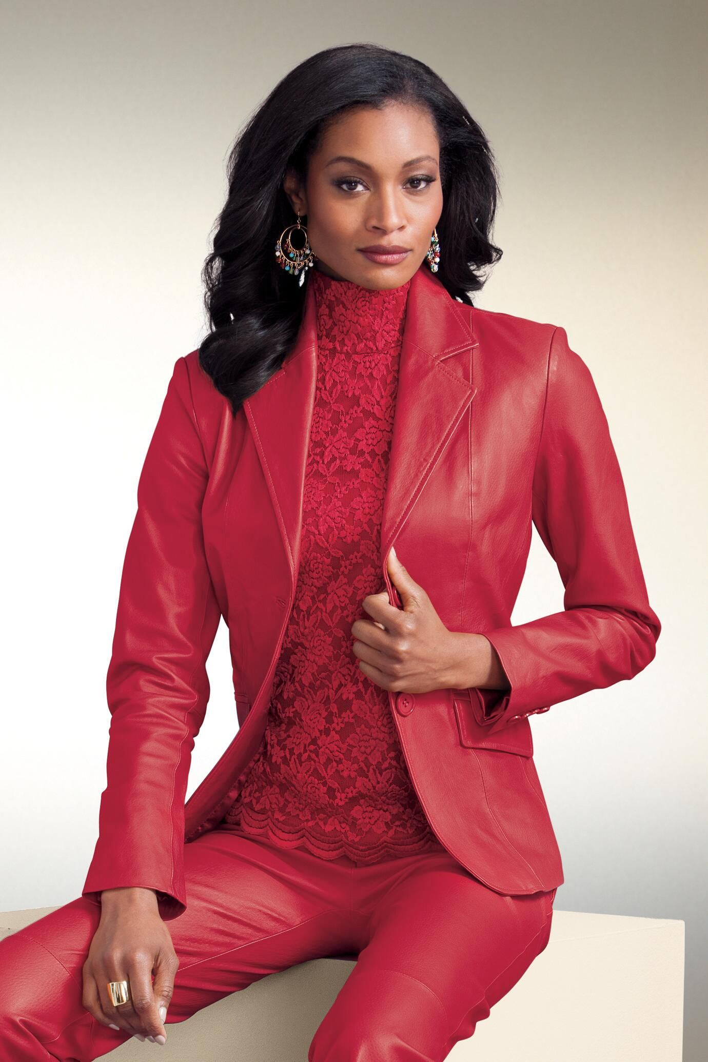 2660ae80fbc2 Genuine Leather Blazer: Unique & Bold Women's Clothing from #metrostyle  $49.99 - $109.99