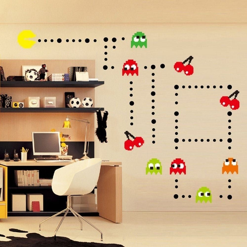 Cartoon Pac Man Wall Vinyl Decor 11 x 35 | Products | Pinterest ...