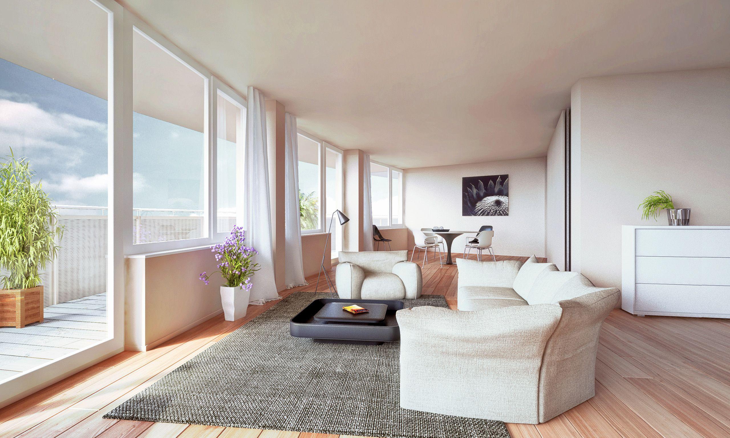 Architekturvisualisierung Berlin interior berlin weissensee neues berlin loft render