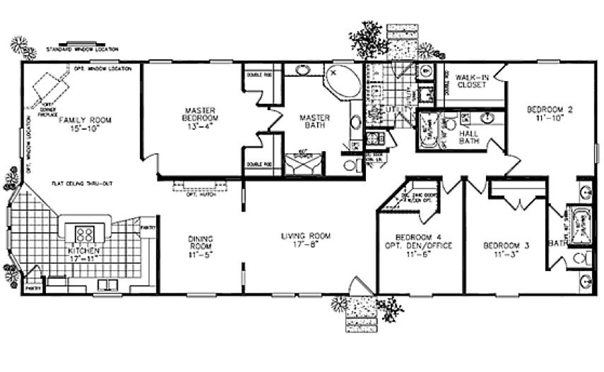 Fuller modular homes classic ranch modular 1288 modular for Modular ranch plans