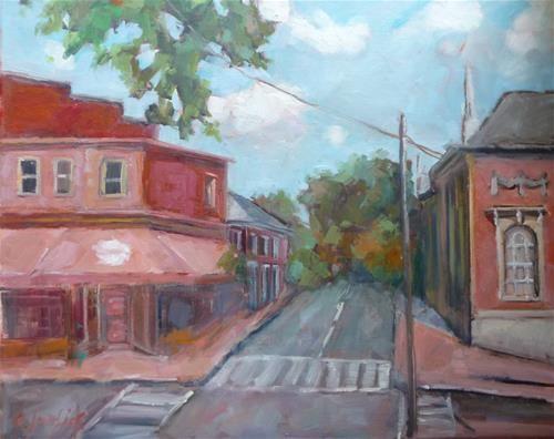 "Daily Paintworks - ""Downtown"" - Original Fine Art for Sale - © Carol Josefiak"
