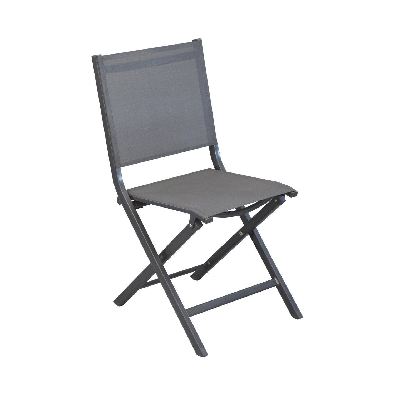 Chaise De Jardin En Aluminium Thema Royal Gris Chaise Table De