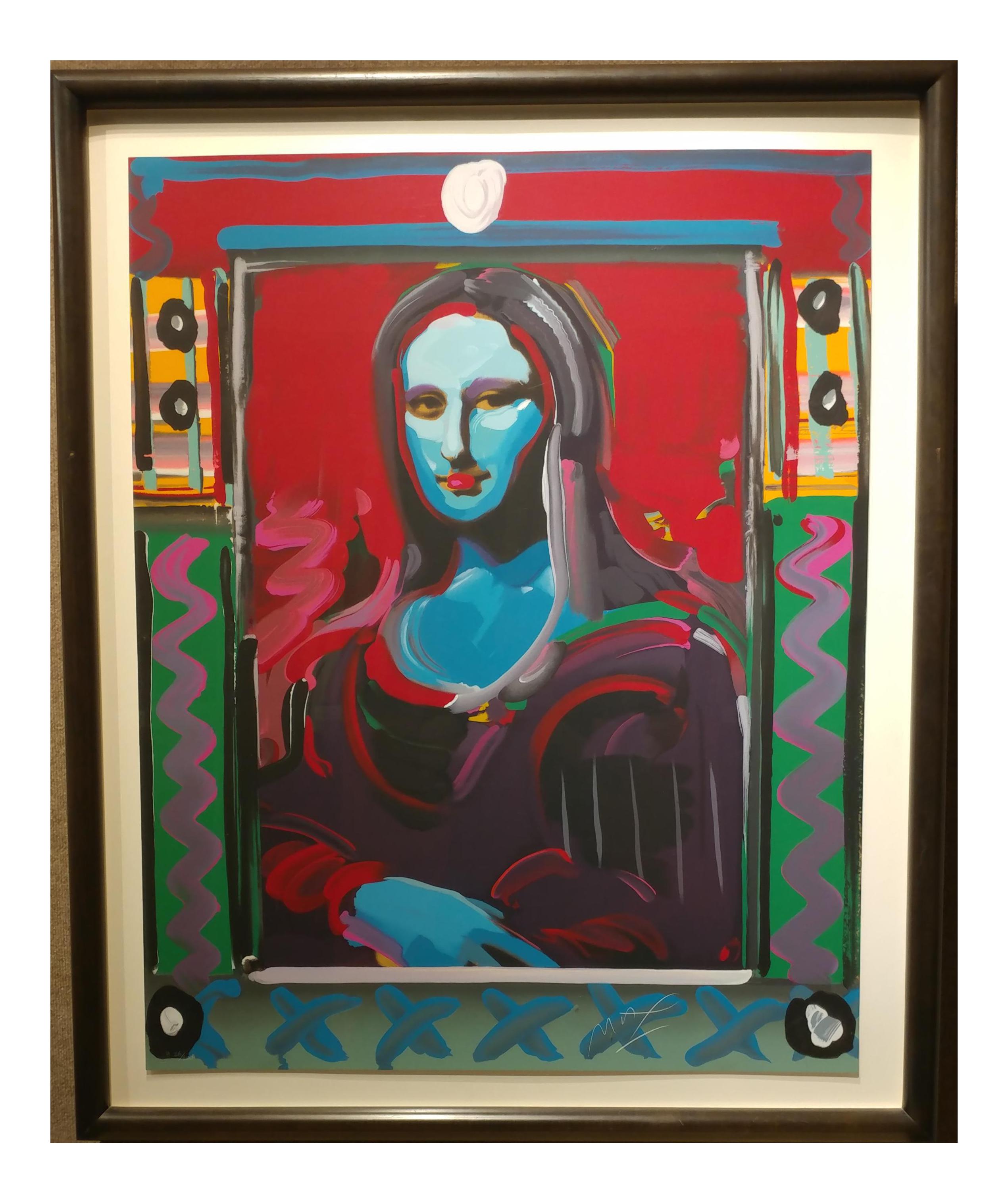 Peter Max Mona Lisa Mixed Media On Chairish Com Peter Max  # La Gioconda Muebles