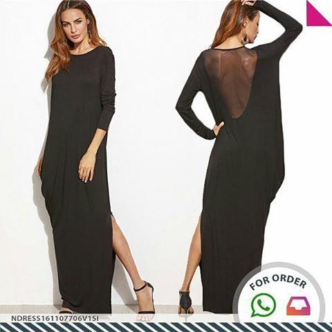 SKU: NDRESS161107706V1SI Colors: Black Price: US $42.67 | PKR 4523 Size: XS, S, M, L Category: Women > Dresses > Maxi… #Vivoren #Fashion