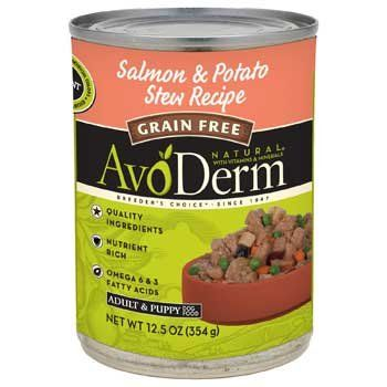 AvoDerm Grain Free Salmon  Potato Stew Recipe Canned Dog Food -- For more information, visit image link.