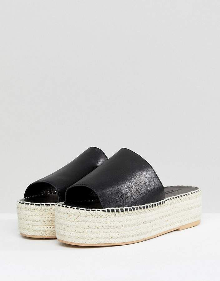 buy cheap with mastercard shopping online with mastercard Vagabond Celeste Black Leather Slide Espadrilles 9PmxJv