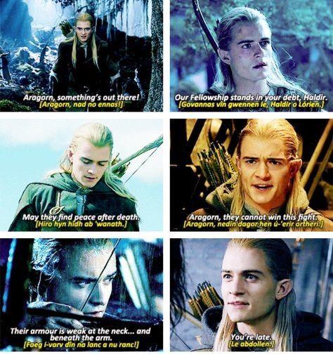 Legolas Quotes | Herr der ringe, Legolas, Hobbit