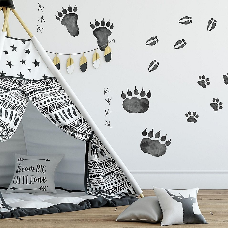 Roommates Animal Tracks Peel And Stick Wall Decals Multi - Create the ultimate woodland-inspired theme for your little one's room with the Animal Tracks Peel and Stick Wall Decal from RoomMates. Perfect for a playful touch to any wall, these vinyl decals are simple to install, reposition and reuse.