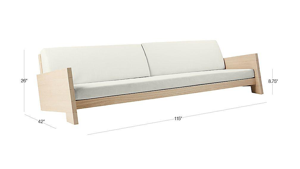 Lunes White Outdoor Sofa Reviews Outdoor Sofa Living Room