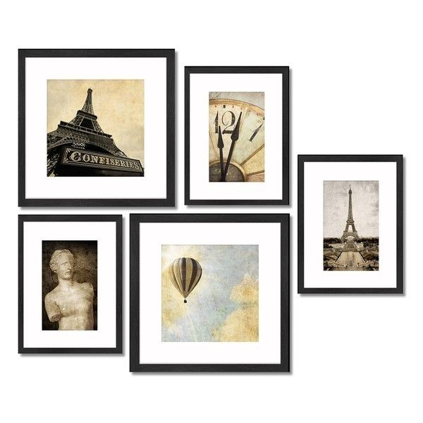 Crystal Art Gallery 5 Piece Framed Wall Art Gallery 30 Liked On Polyvore Featuring Home Home Decor Black Wall Art Art Gallery Wall Black Framed Wall Art