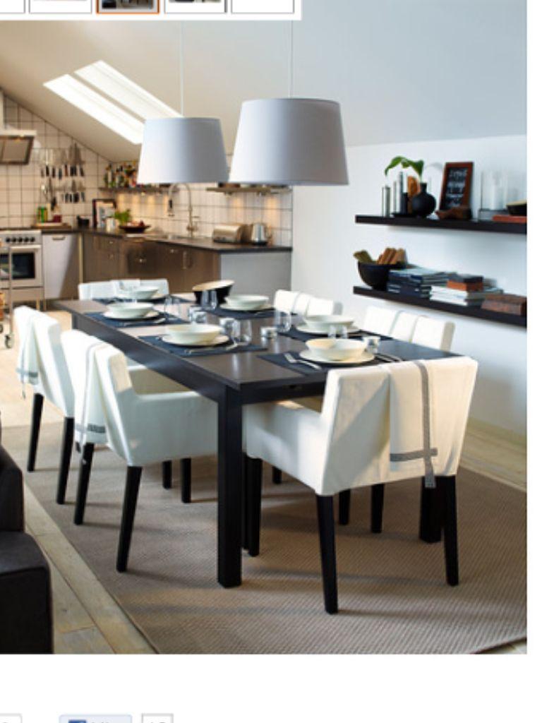 Ikea Bjursta Extendable Table Nils Chairs Matrum Inspiration