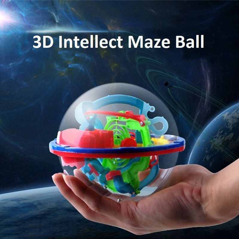 Baby Like 299 Barriers 3d Magic Intellect Ball Balance Maze Game Puzzle Globe Toy Kid Gift Model Building Kits
