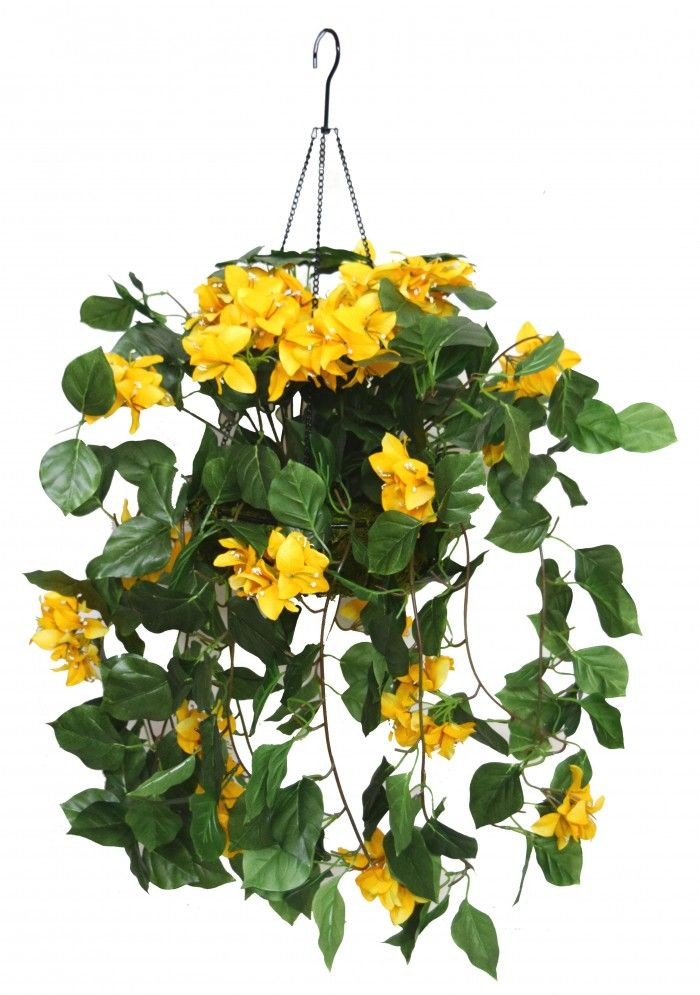 Artificial Flower Baskets Online : Cm tall bougainvillea hanging basket decorative
