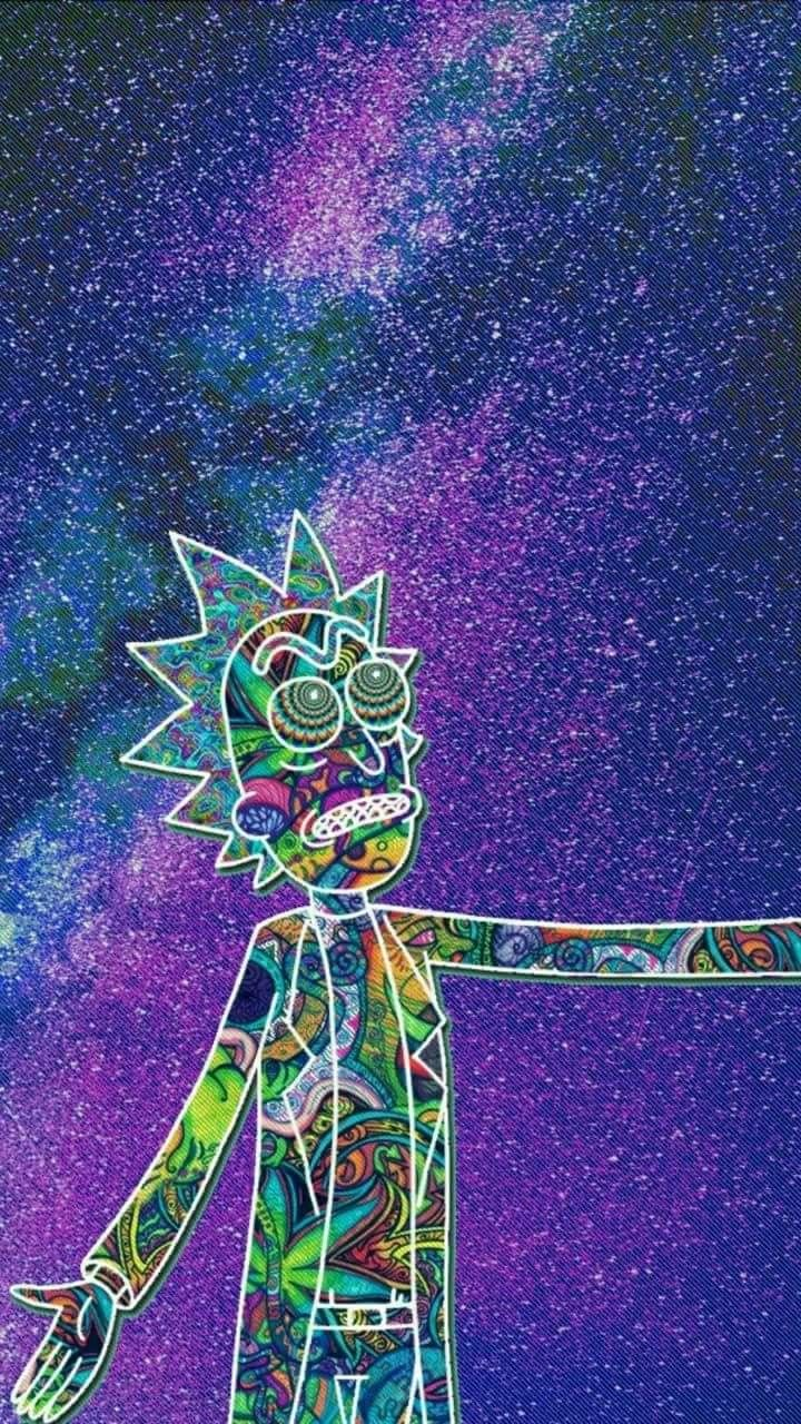 Rick And Morty Baymax Science Fiction Art Vaporwave Iphone Wallpapers Gw Ganja Stoner Gravity Falls