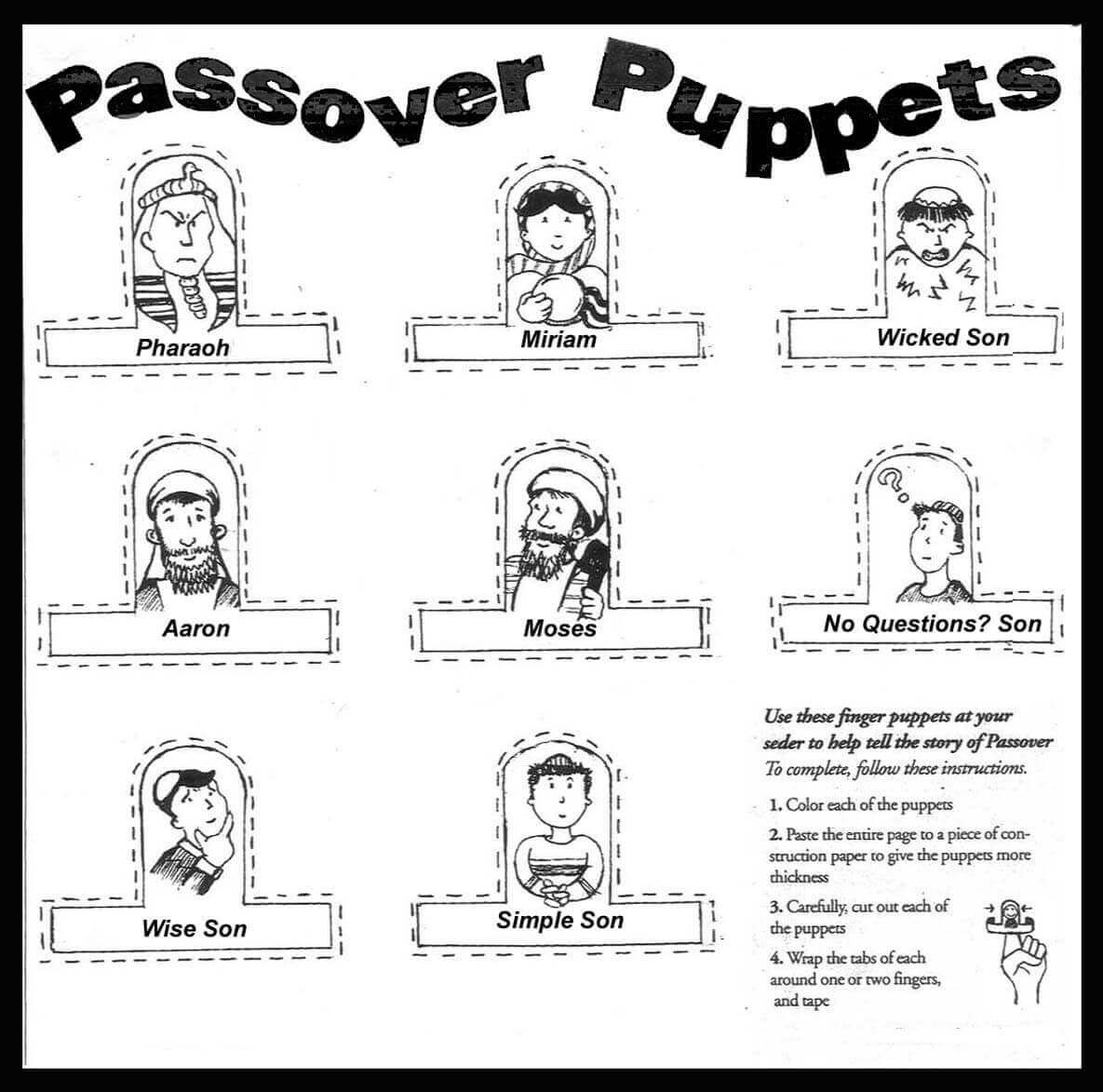 Free Printable Passover Coloring Pages Passover Crafts Passover Activities Passover Printables