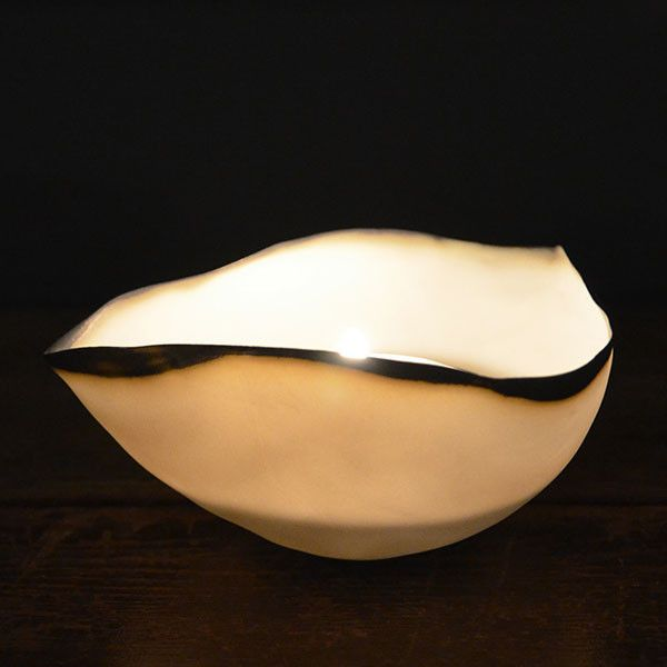 Porcelain tealight shell | white