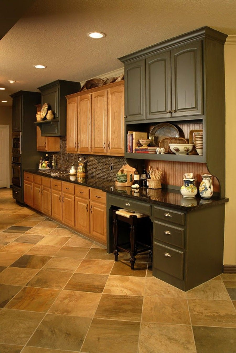 Kitchen: Lovely And Durable Oak Kitchen Cabinets. Open