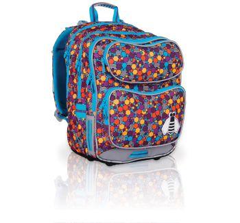 98422525b799b Plecak dla sześciolatka od 1 do 3 klasy. Plecak posiada kolorowy motyw oraz  pszczółkę wykonaną