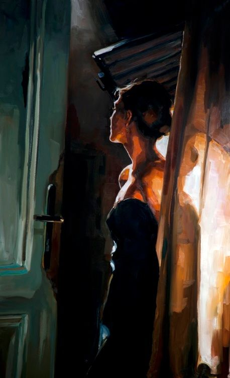 Edward B. Gordon. Que hermoso manejo de luces y sombras <3