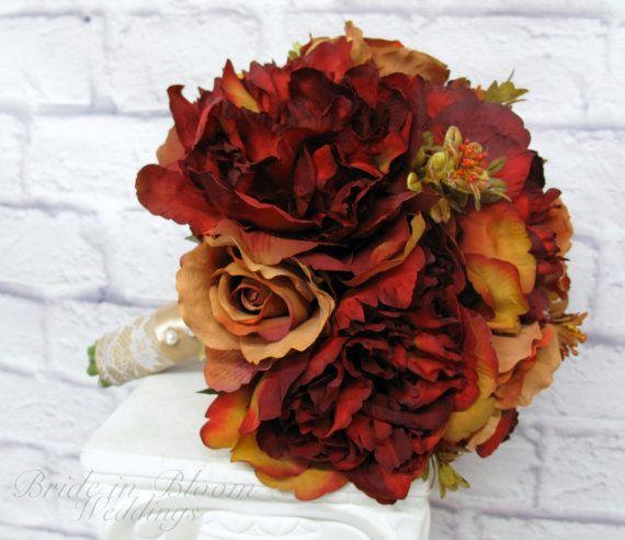 Wedding bouquet Bridal bouquet Autumn by BrideinBloomWeddings
