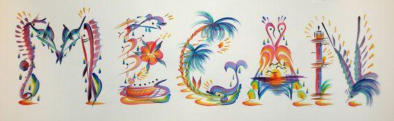 Tropical Name Art Painting Name Art Art Painting