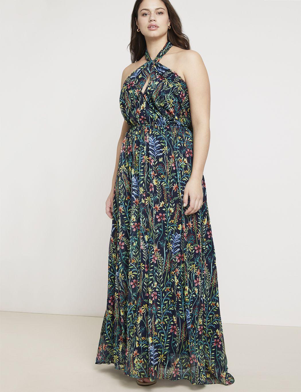 Jason Wu/ELOQUII Halter Maxi Dress | Women\'s Plus Size ...
