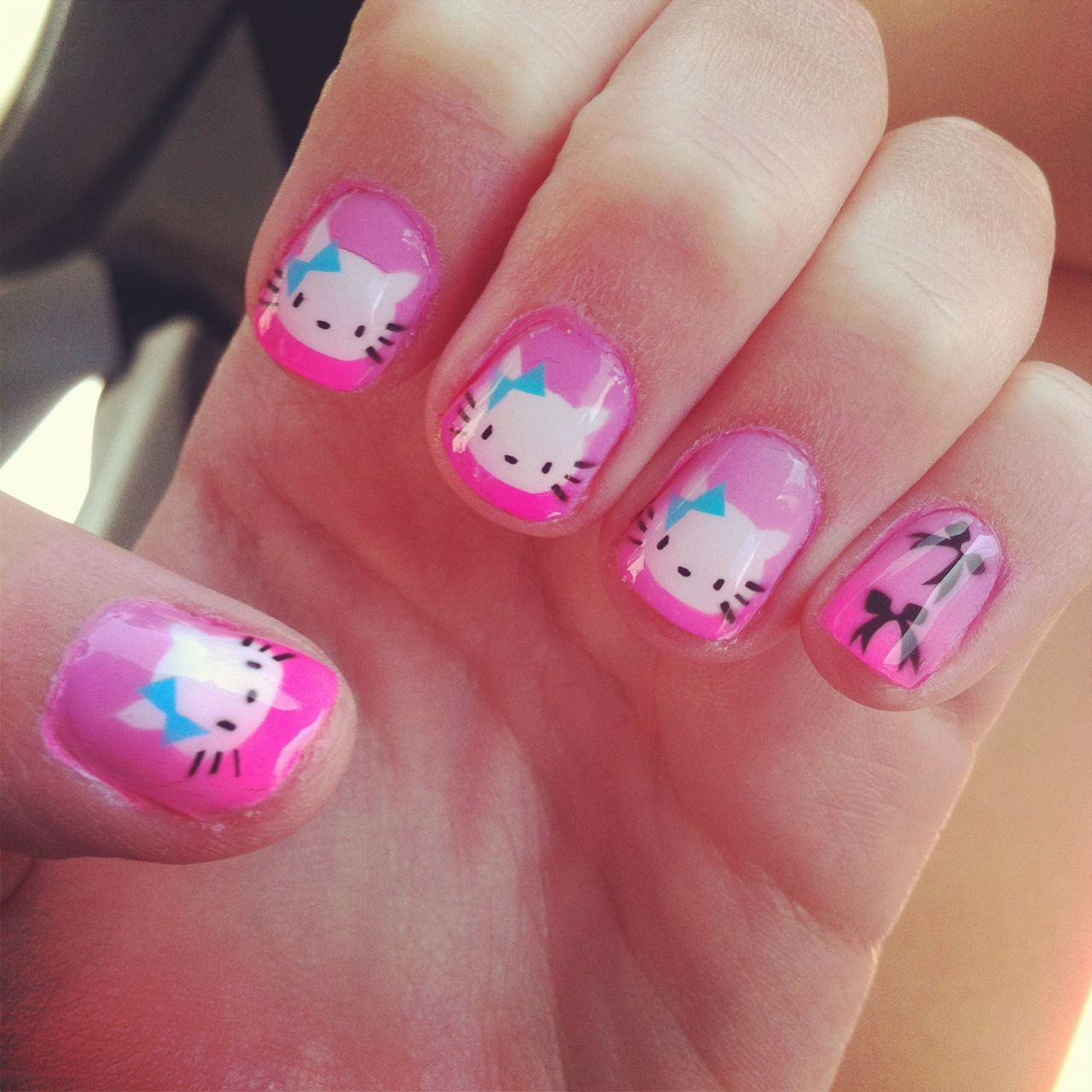 cute hello kitty acrylic nails - http://69hdwallpapers.com/cute ...