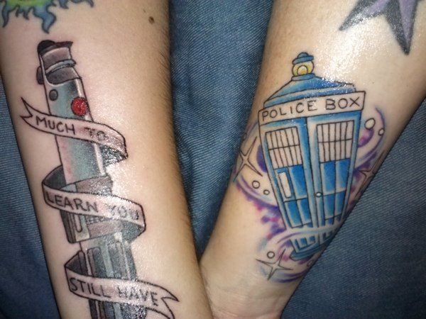 20 awesome matching tattoos only geek couples would get for Matching star wars tattoos