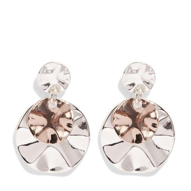 Phase Eight Grey Leona Mixed Plate Earrings Debenhams Earrings