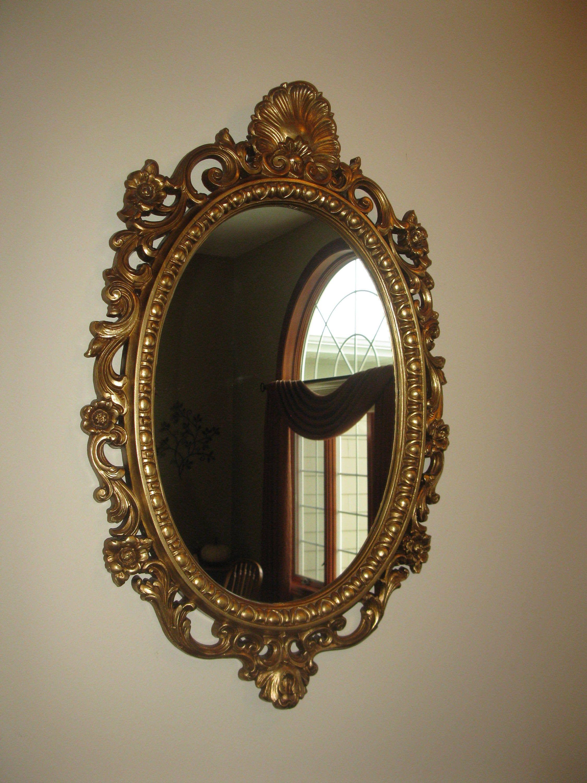 Large Ornate Wall Mirror Oval Shape Plastic Framed Etsy Oval Wall Mirror Vintage Mirror Wall Mirror Wall [ 3000 x 2250 Pixel ]